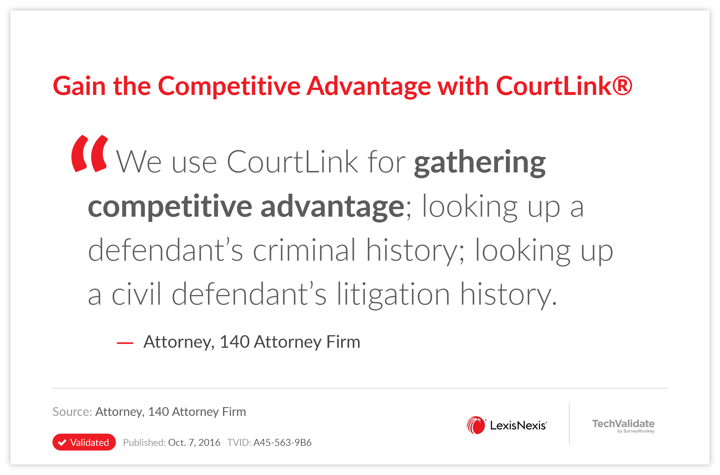 Gain the Competitive Advantage with CourtLink(R)