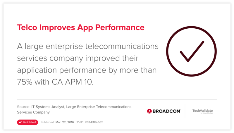 Telco Improves App Performance