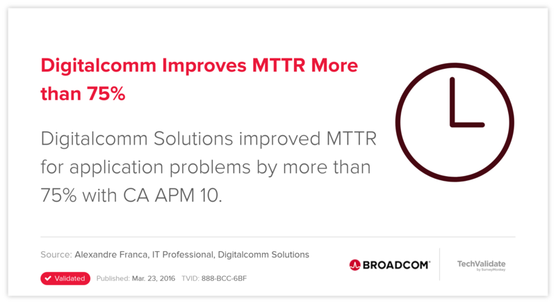 Digitalcomm Improves MTTR More than 75%