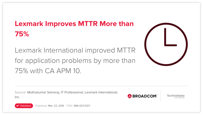Lexmark Improves MTTR More than 75%