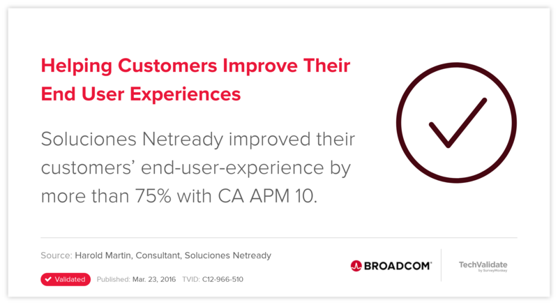 Helping Customers Improve Their End User Experiences