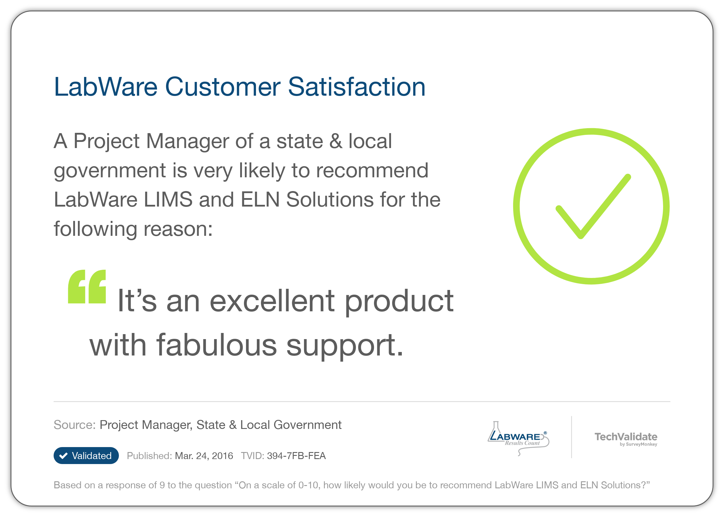 LabWare Customer Satisfaction