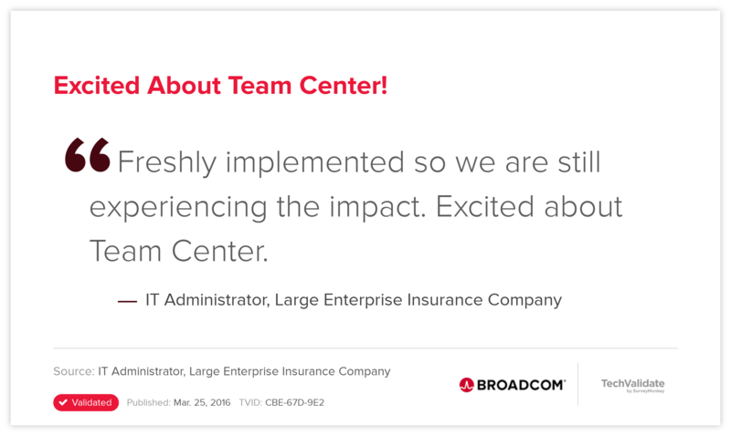 Excited About Team Center!