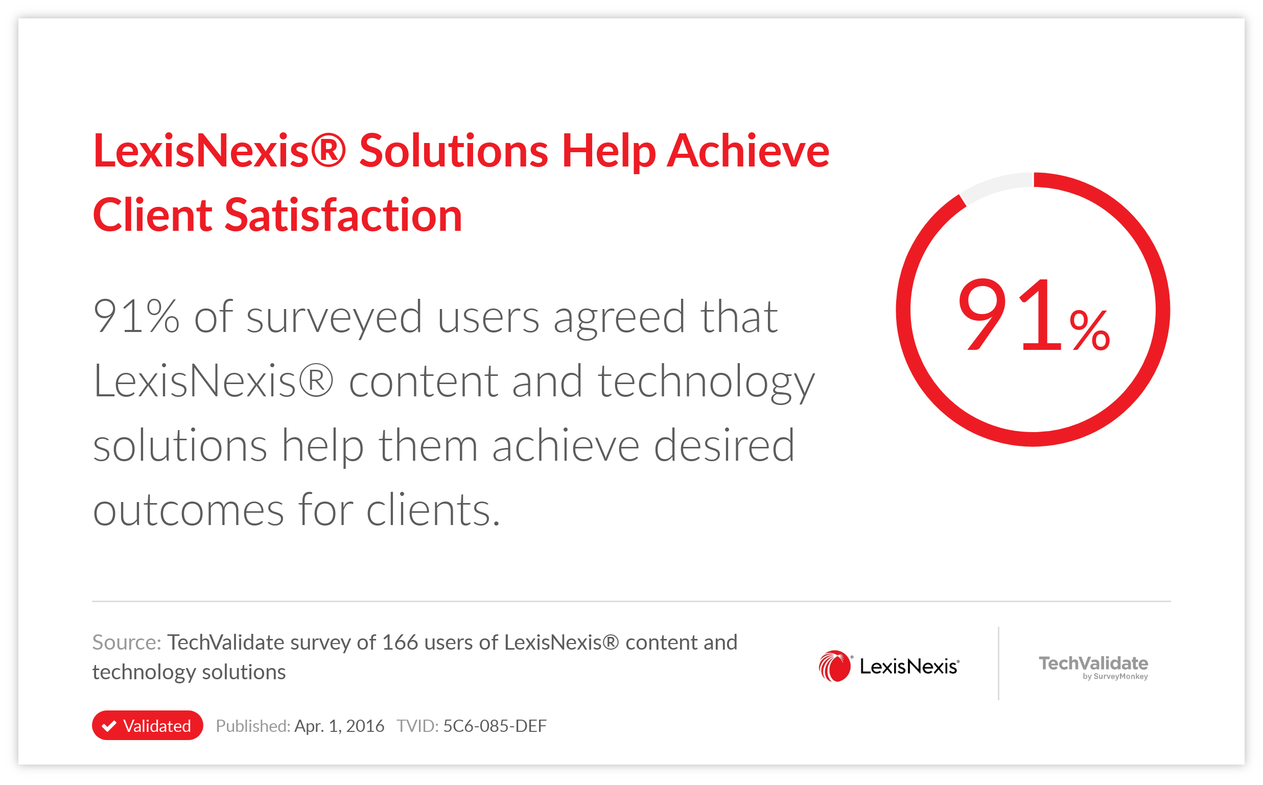 LexisNexis® Solutions Help Achieve Client Satisfaction