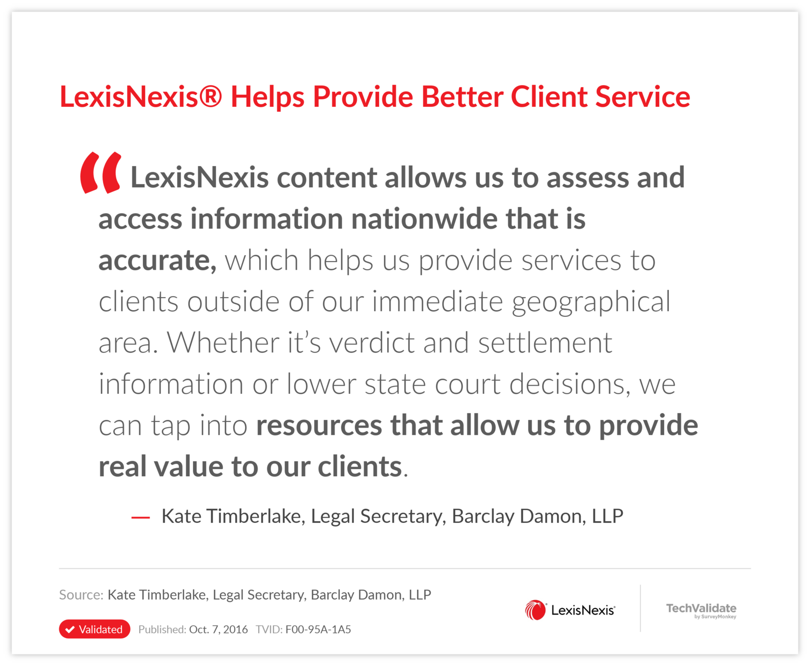 LexisNexis® Helps Provide Better Client Service