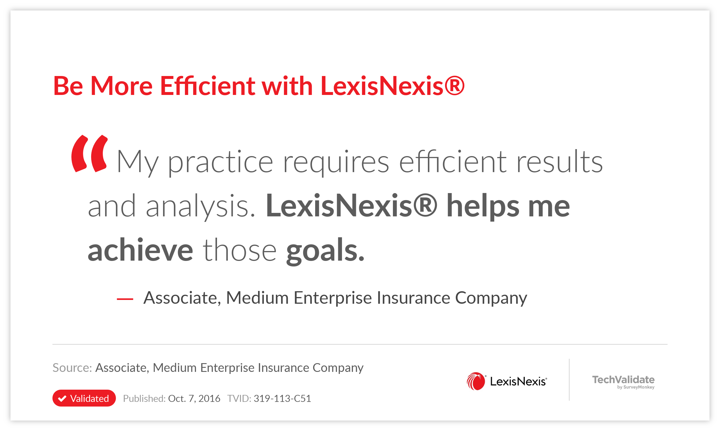 Be More Efficient with LexisNexis®