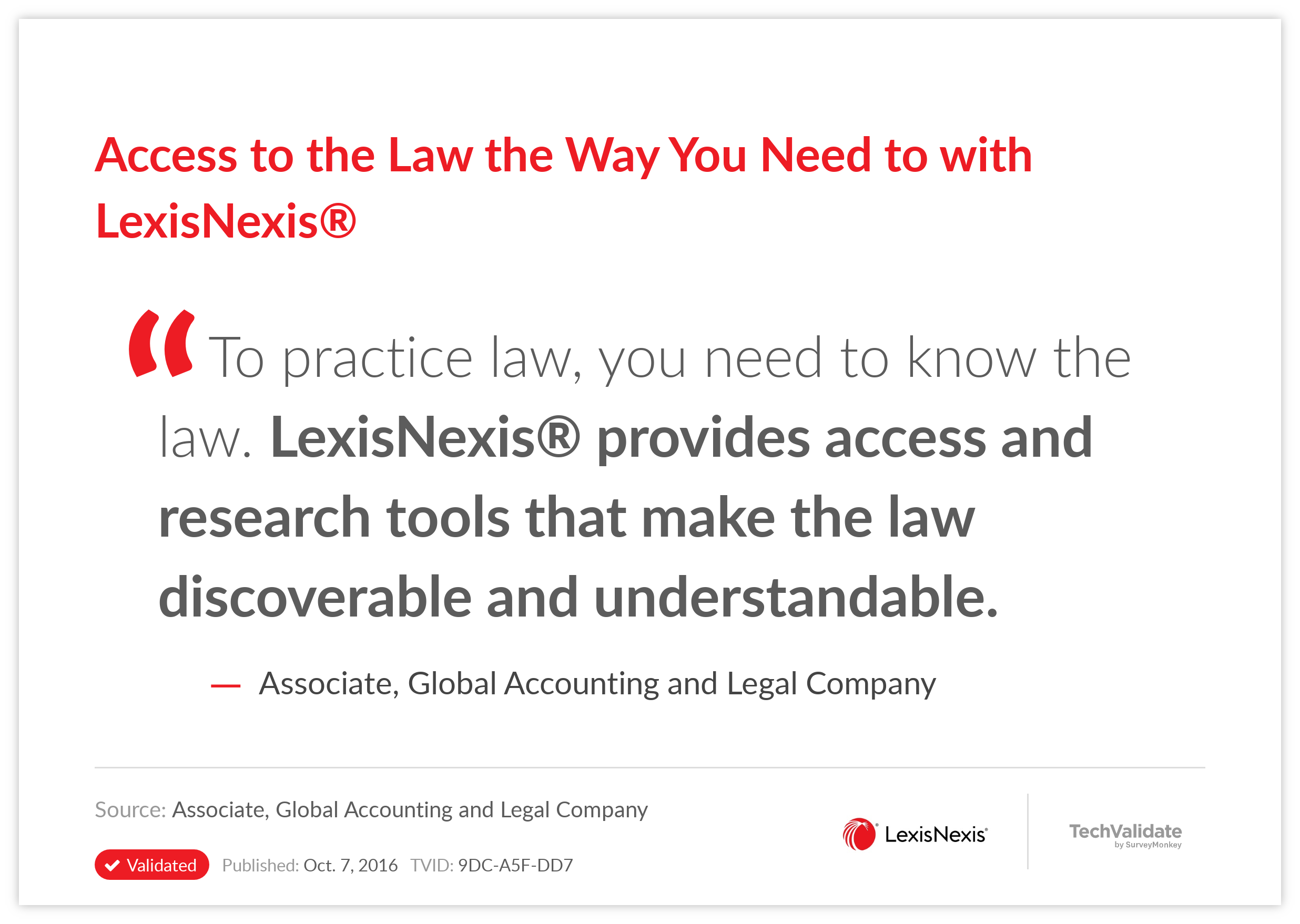 Access to the Law the Way You Need to with LexisNexis®