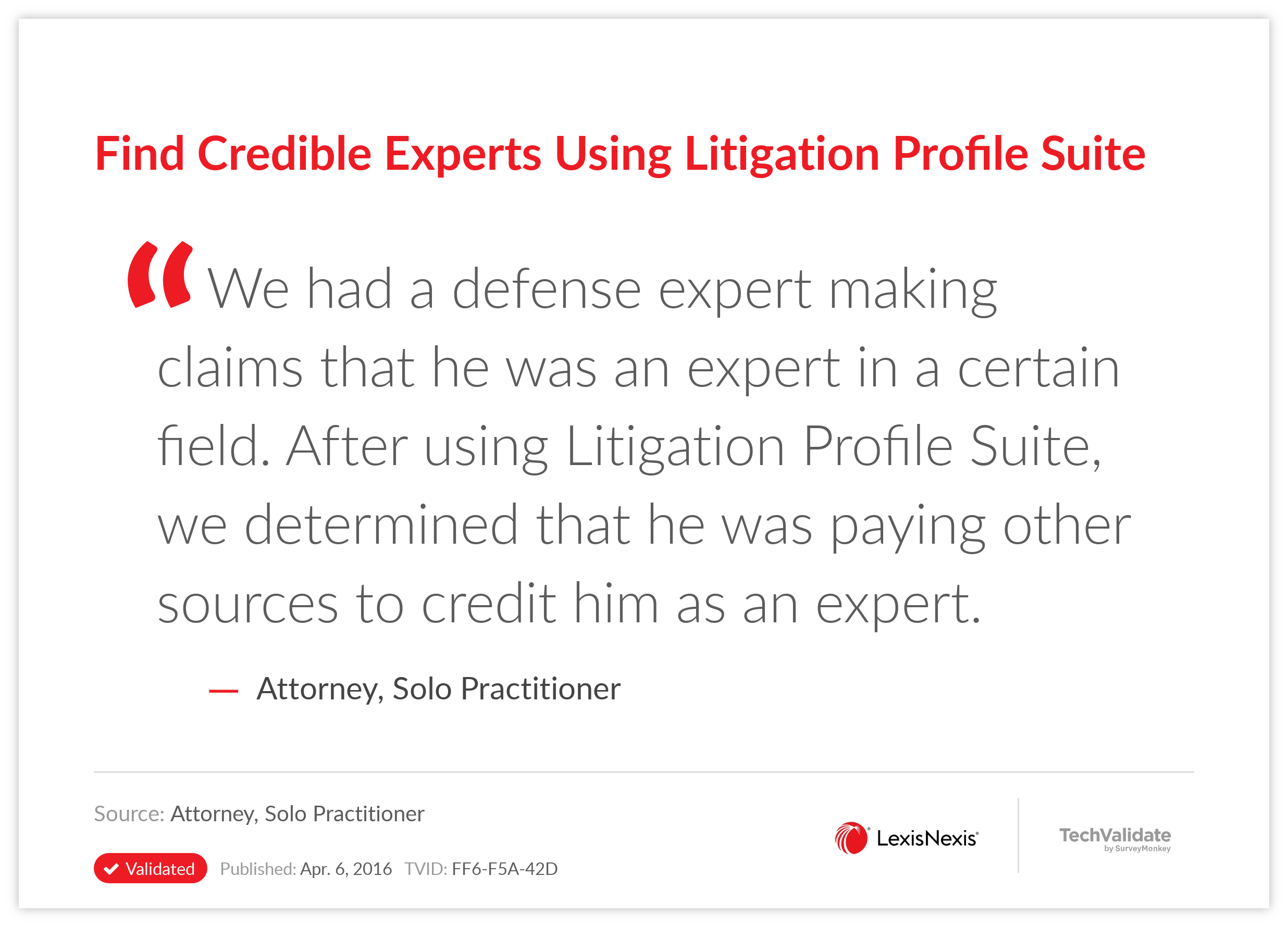 Find Credible Experts Using Litigation Profile Suite