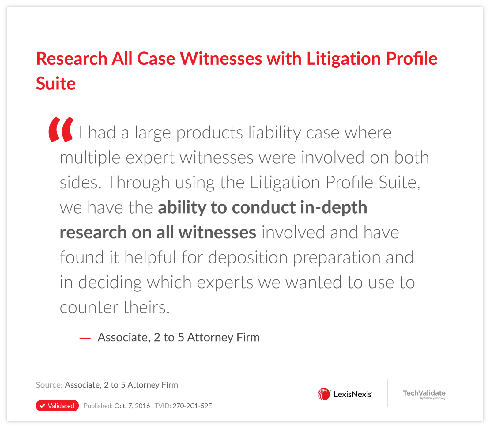 Research All Case Witnesses with Litigation Profile Suite
