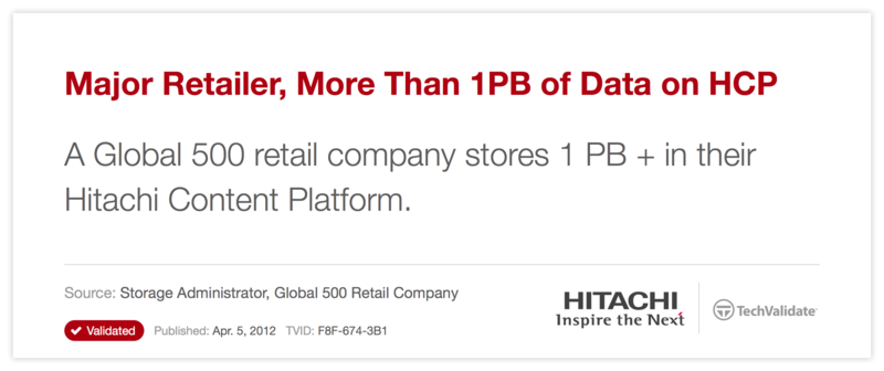 Major Retailer, More Than 1PB of Data on HCP