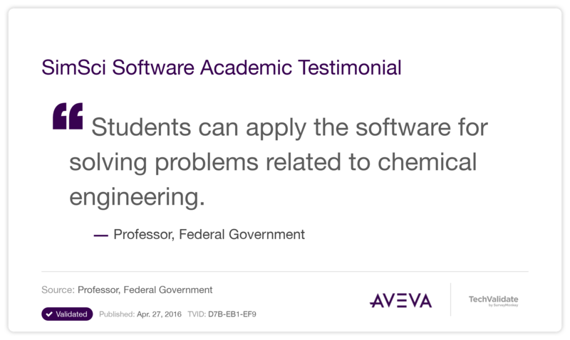 Using SimSci Software to Enrich the Academic Experience | AVEVA