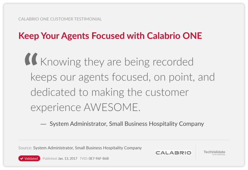 Keep Your Agents Focused with Calabrio ONE