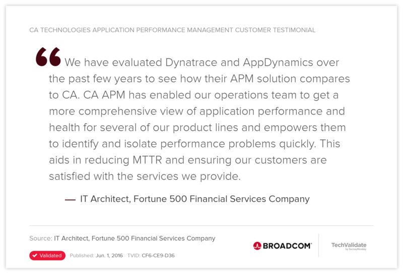 CA Technologies Application Performance Management Customer Testimonial