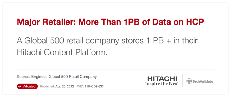 Major Retailer: More Than 1PB of Data on HCP