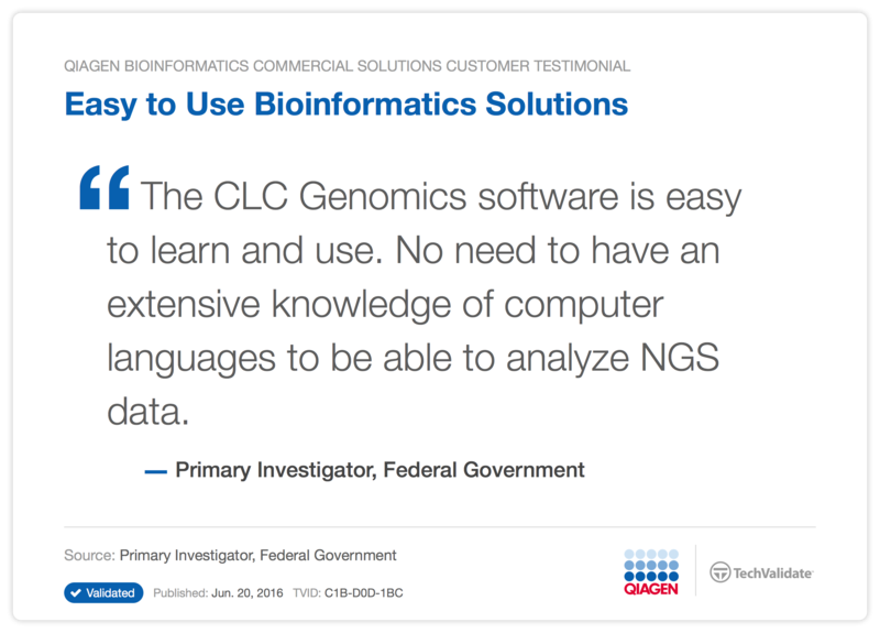 Easy to Use Bioinformatics Solutions