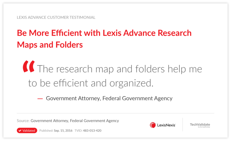 Be More Efficient with Lexis Advance Research Maps and Folders