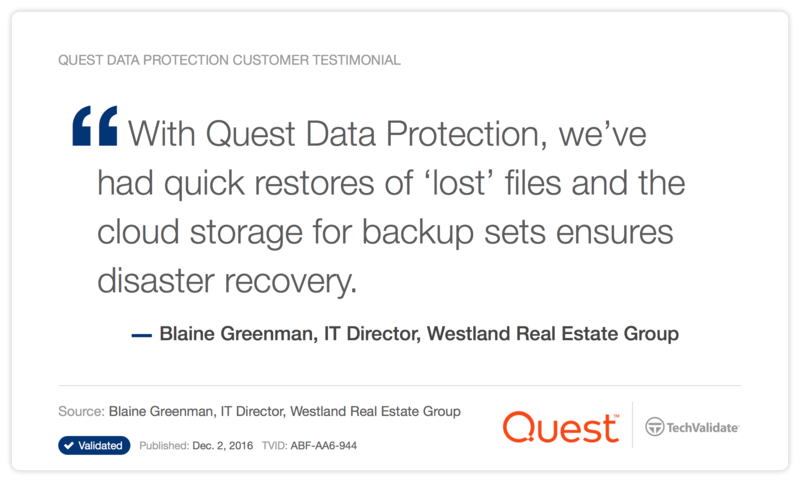 Quest Data Protection Customer Testimonial