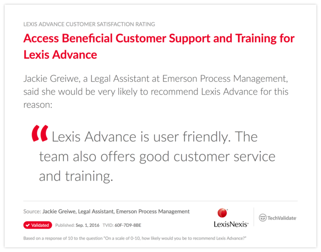 Access Beneficial Customer Support and Training for Lexis Advance