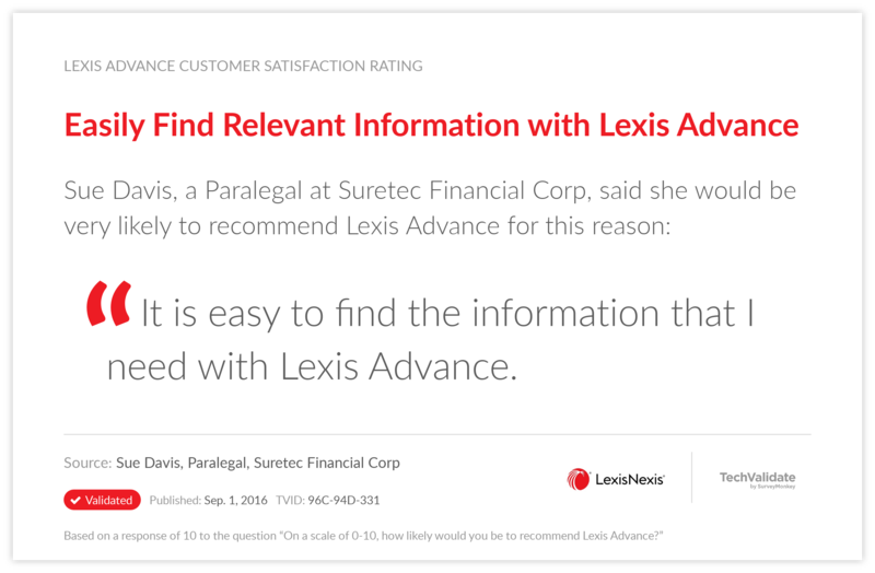 Easily Find Relevant Information with Lexis Advance