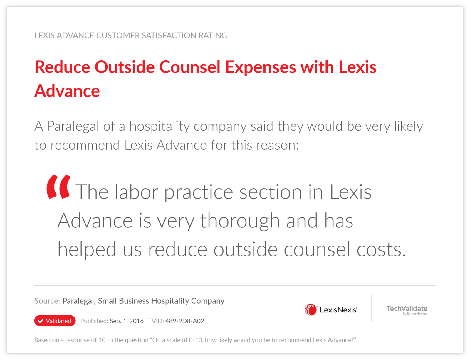 Reduce Outside Counsel Expenses with Lexis Advance