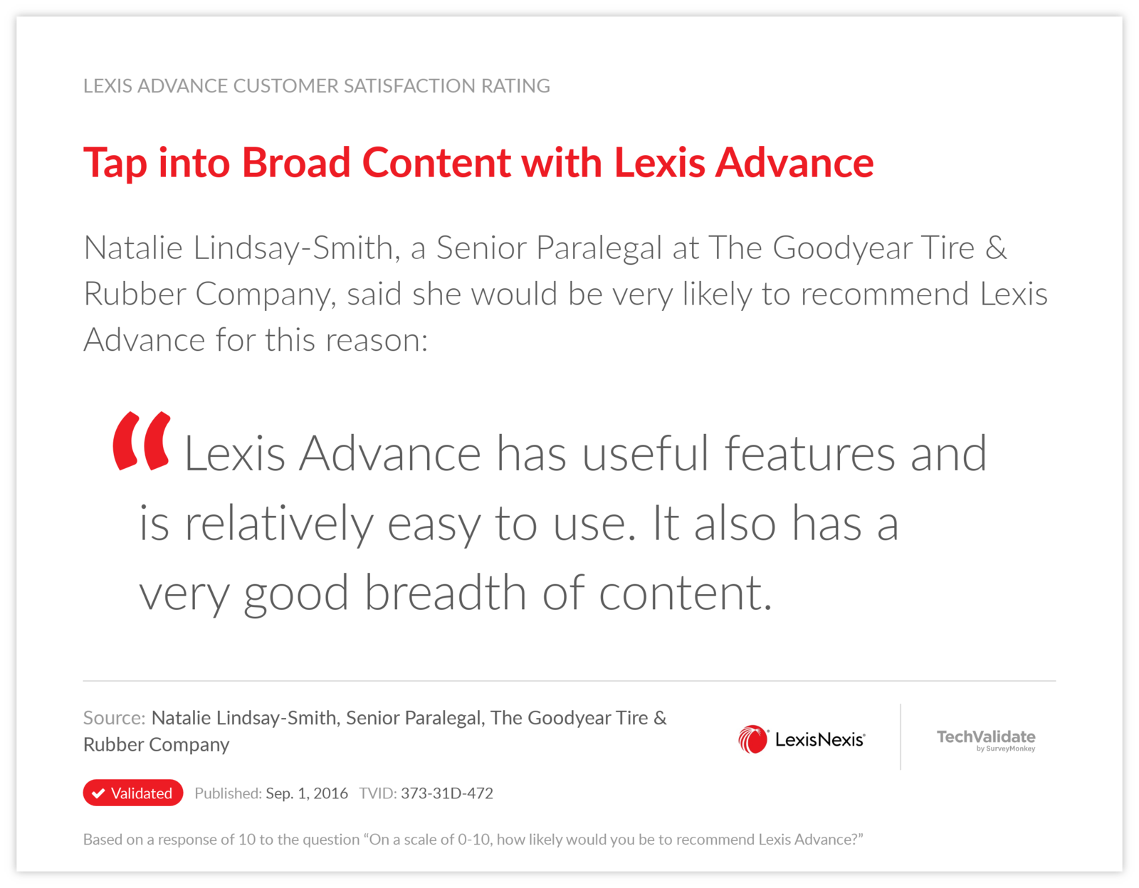 Tap into Broad Content with Lexis Advance