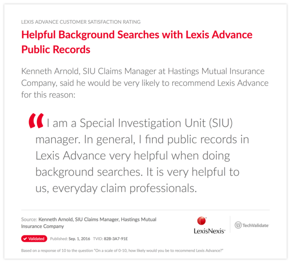 Helpful Background Searches with Lexis Advance Public Records