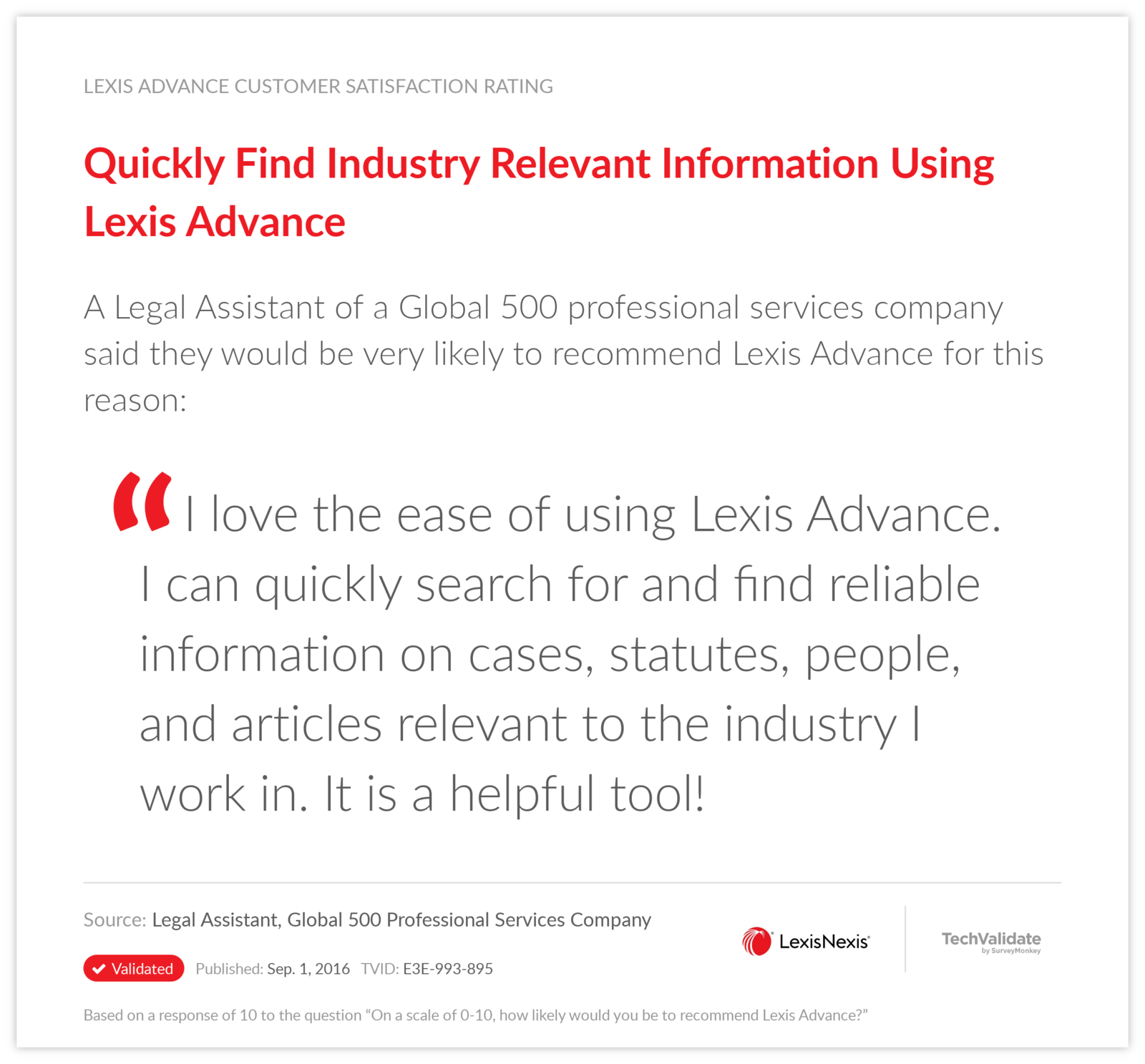 Quickly Find Industry Relevant Information Using Lexis Advance