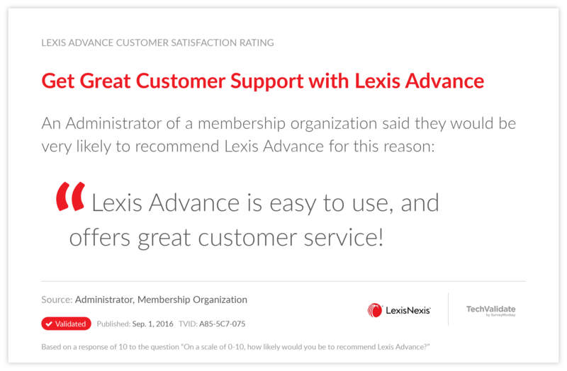 Get Great Customer Support with Lexis Advance
