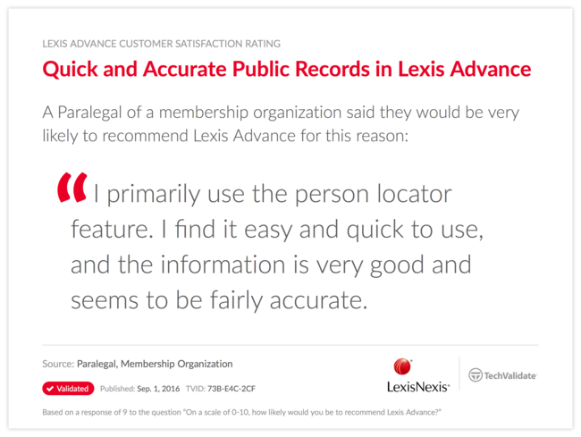 Quick and Accurate Public Records in Lexis Advance