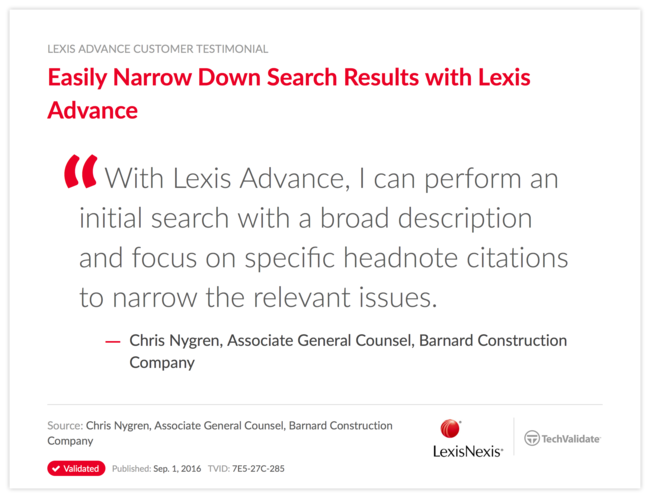 Easily Narrow Down Search Results with Lexis Advance