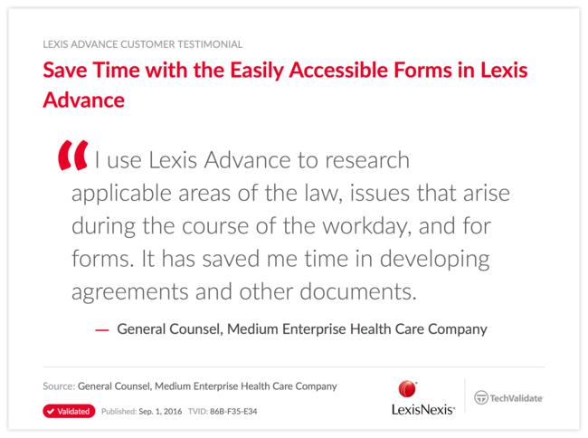 Save Time with the Easily Accessible Forms in Lexis Advance