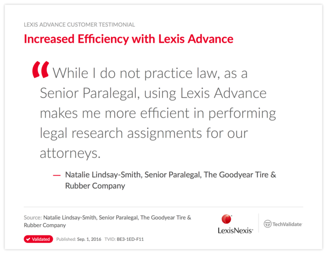 Increased Efficiency with Lexis Advance