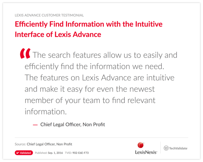 Efficiently Find Information with the Intuitive Interface of Lexis Advance
