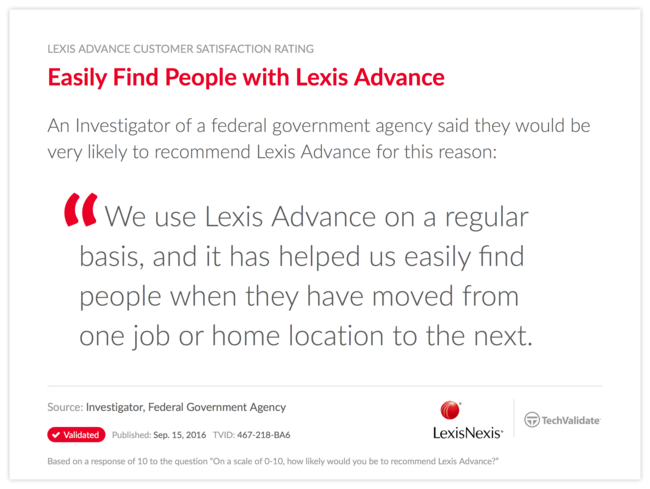 Easily Find People with Lexis Advance