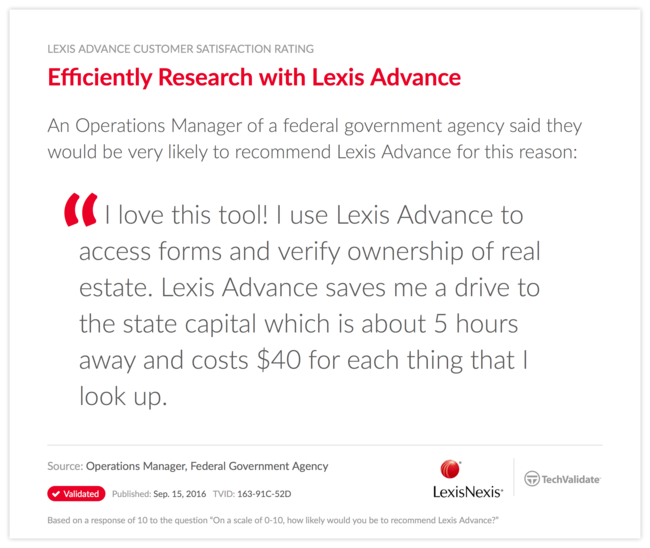 Efficiently Research with Lexis Advance
