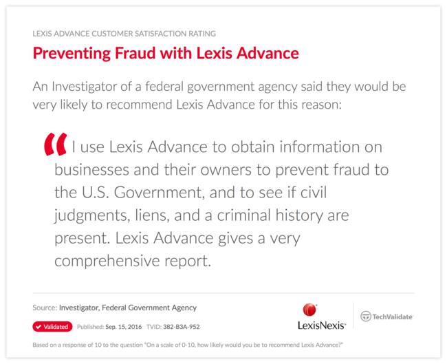 Preventing Fraud with Lexis Advance