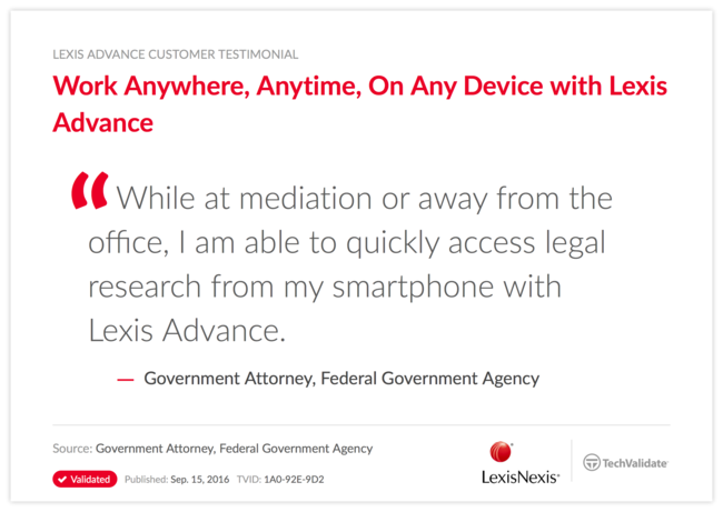 Work Anywhere, Anytime, On Any Device with Lexis Advance