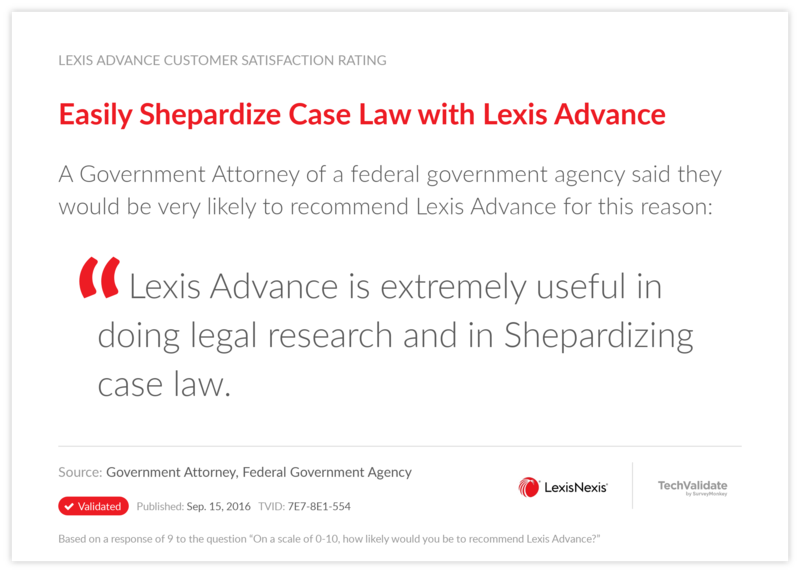 Easily Shepardize Case Law with Lexis Advance