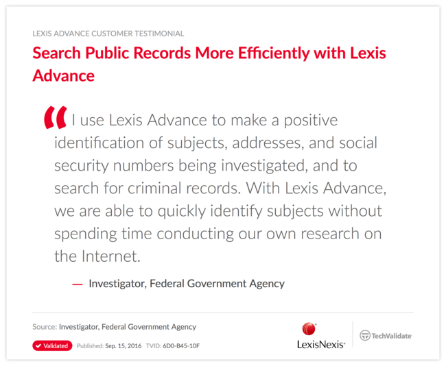 Search Public Records More Efficiently with Lexis Advance