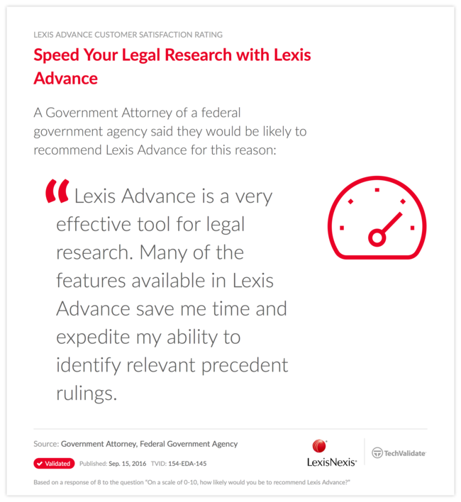 Speed Your Legal Research with Lexis Advance