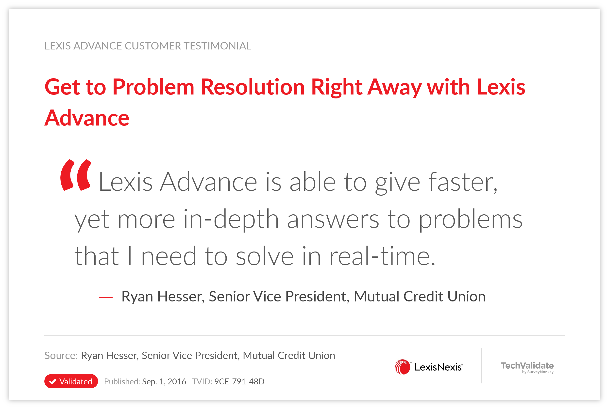 Get to Problem Resolution Right Away with Lexis Advance