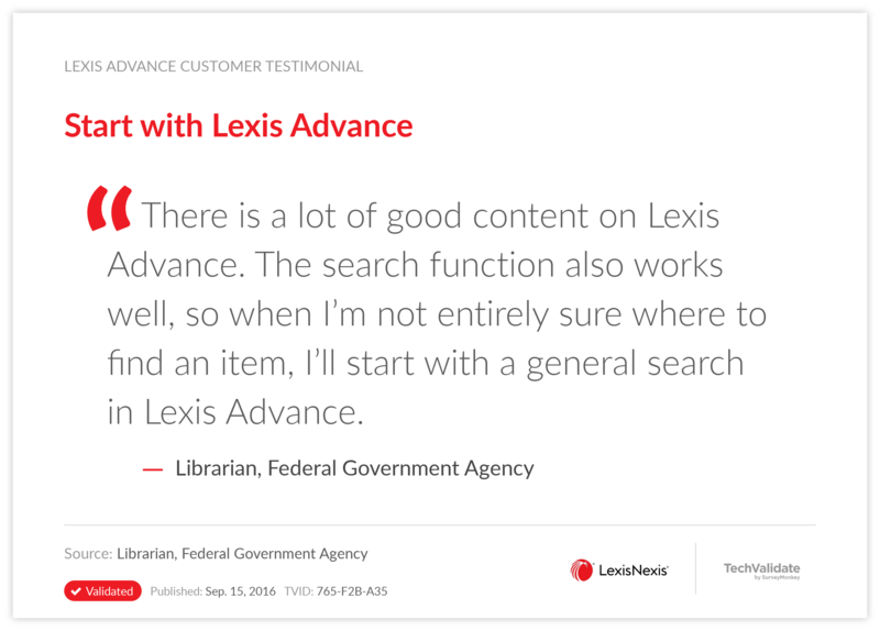 Start with Lexis Advance