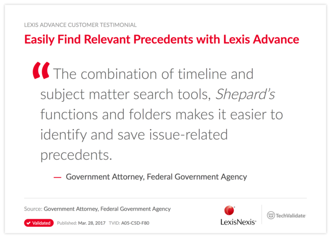 Easily Find Relevant Precedents with Lexis Advance