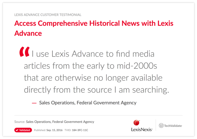 Access Comprehensive Historical News with Lexis Advance