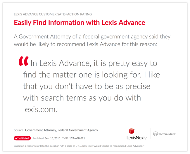 Easily Find Information with Lexis Advance