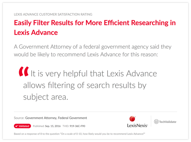 Easily Filter Results for More Efficient Researching in Lexis Advance