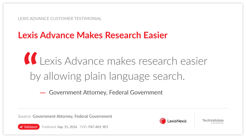 Lexis Advance Makes Research Easier