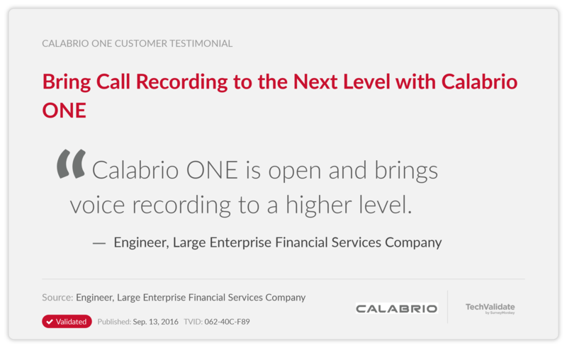 Bring Call Recording to the Next Level with Calabrio ONE