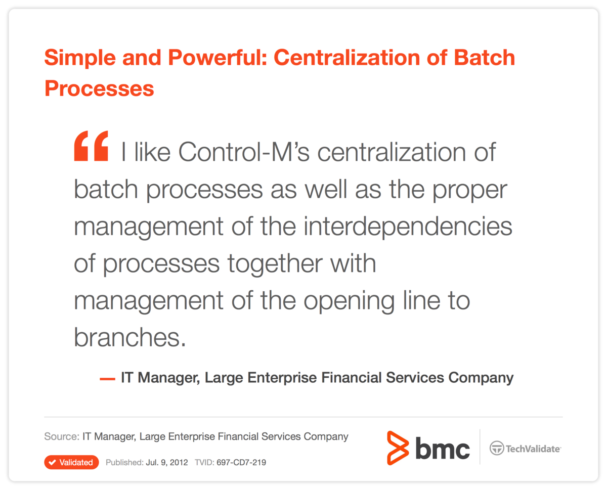 Simple and Powerful: Centralization of Batch Processes