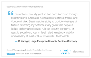 Cisco Stealthwatch Customer Testimonial